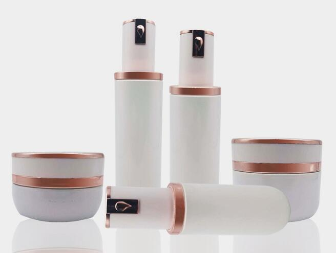 Golden Cosmetic Bottles